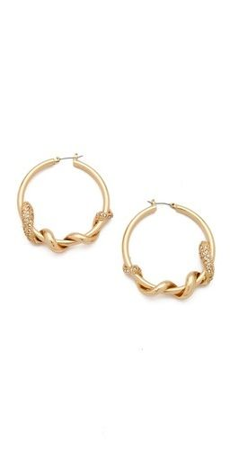 Bop Bijoux Bop Bijoux Twisted Snake Hoop Earrings