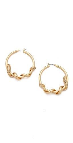 Bop Bijoux Bop Bijoux Twisted Snake Hoop Earrings