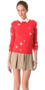Chinti + Parker  Chinti + Parker Intarsia Star Cashmere Sweater