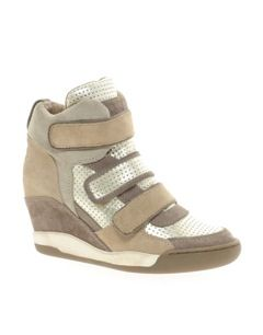 Ash Ash Alex Bis Taupe/Gold Wedge Sneakers