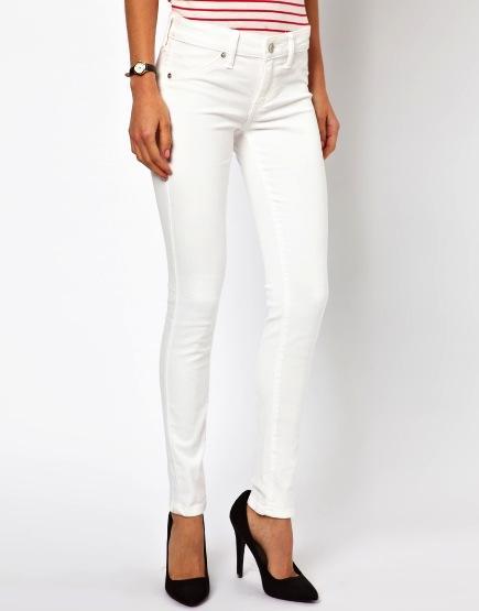 Mango  Mango White Skinny Jeans