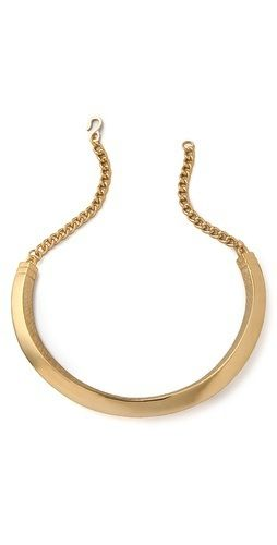 Kenneth Jay Lane  Kenneth Jay Lane Chain Textured Bib Necklace