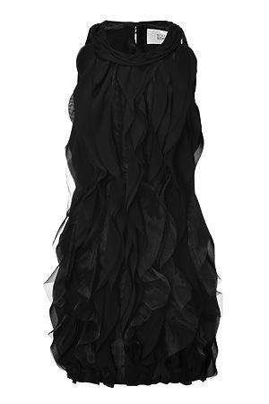 Steffan Schraut  Steffan Schraut Black Ruffled Front Dress