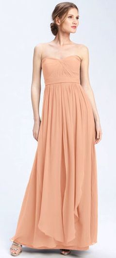 Jenny Yoo Aidan Covertible Strapless Chiffon Gown