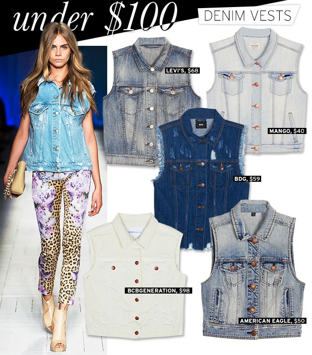 Denim Vests Under $100