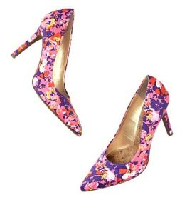 LOFT LOFT Petra Multicolored Floral Print Pumps