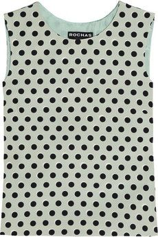 Rochas Rochas Polka Dot Twill Top