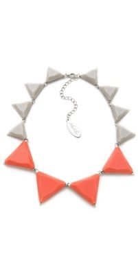 Adiba Kibur  Adiba Kibur Resin Triangle Station Necklace