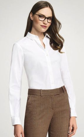 Anne Klein  Anne Klein Button-Front Blouse
