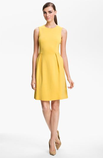 St. John Collection  St. John Collection Sleeveless Milano Knit Dress