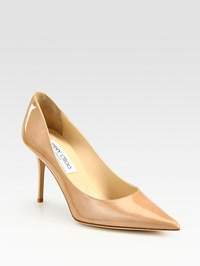 Jimmy Choo  Jimmy Choo Agnes Pointed-Toe Patent Pumps