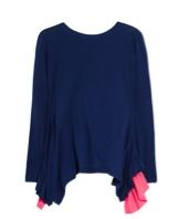 Preen Line Deck Silk-Trimmed Cotton-Jersey Top