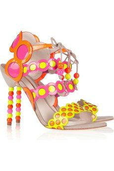 Yayoi Patent-Leather and Suede Sandals