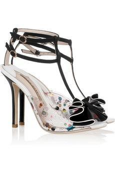 Lana Embellished PVC Suede Sandals