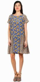 SUNO SUNO Picot Panels Dress
