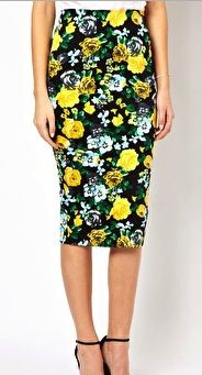 ASOS ASOS Pencil Skirt in Floral Print