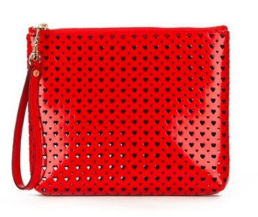 MZ Wallace Red Heart Perf Louie