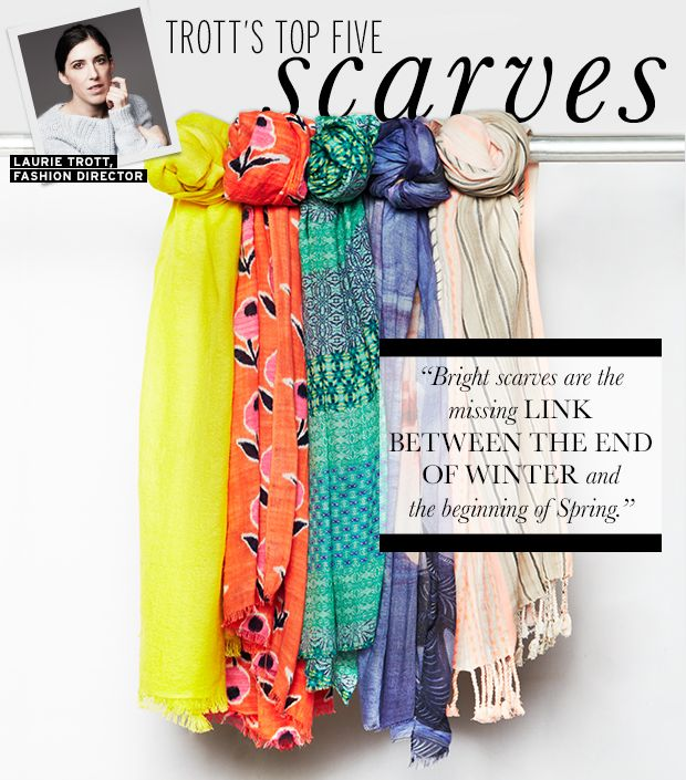Five Chic Scarves To Take Your Wardrobe From Winter to Spring.