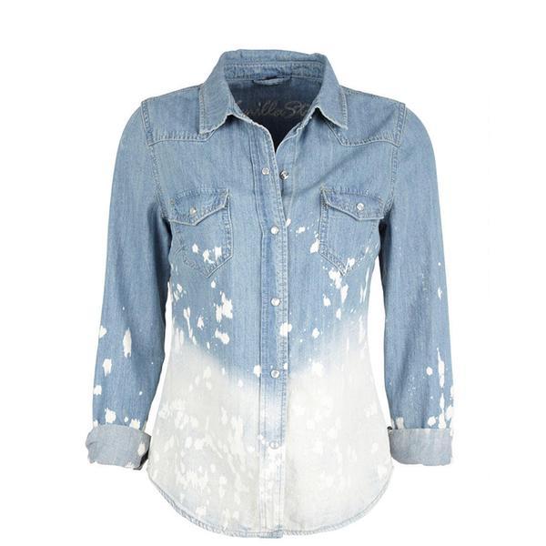 Delias Splatter Dip-Dye Chambray Shirt