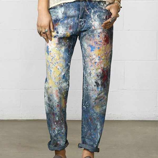 Denim & Supply Ralph Lauren Paint Splatter Boyfriend Jeans