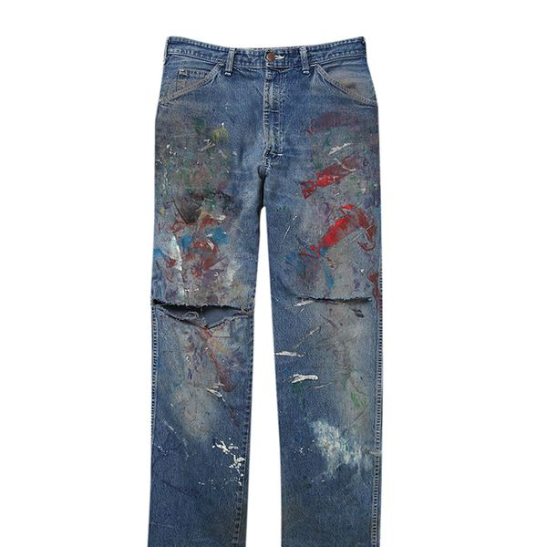 Vintage Dickie's Paint Splattered Denim Pants ($