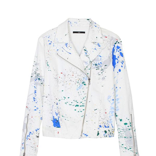 Tibi Splatter Paint Biker Jacket