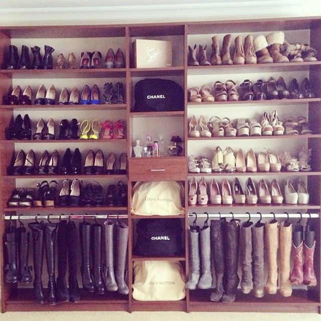 13 creative ways to organize your shoes inspired by. Black Bedroom Furniture Sets. Home Design Ideas