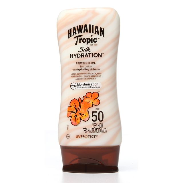 Hawaiian Tropic Silk Hydration Lotion Sunscreen, SPF 50