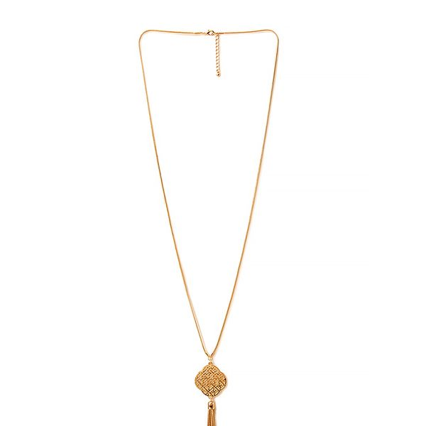 Forever 21 Retro Fringe Pendant Necklace