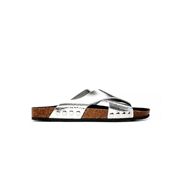 River Island Foot Covered Chunky Flat Sandals