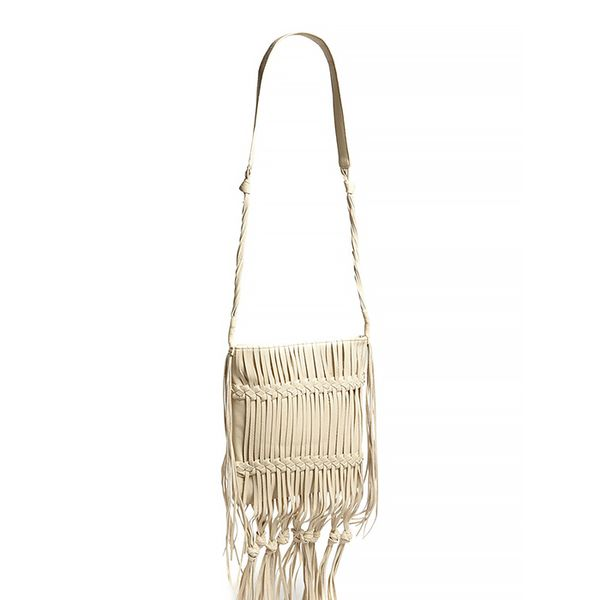 LP Blue Boho Fringed Shoulder Bag