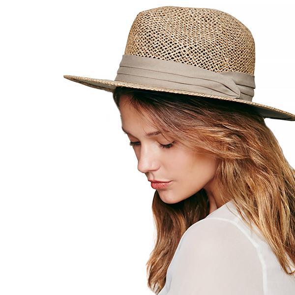 Free People Rush Straw Fedora Hat