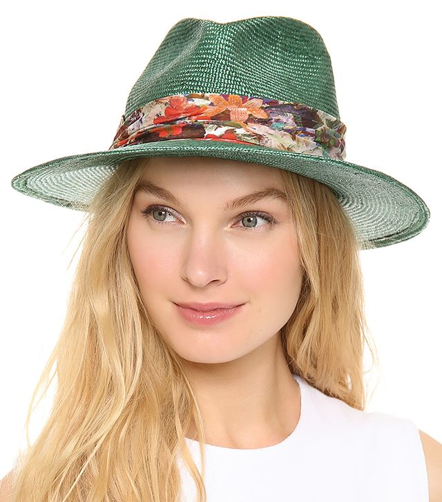 Eugenia Kim Bianca Hat ($340) in Teal
