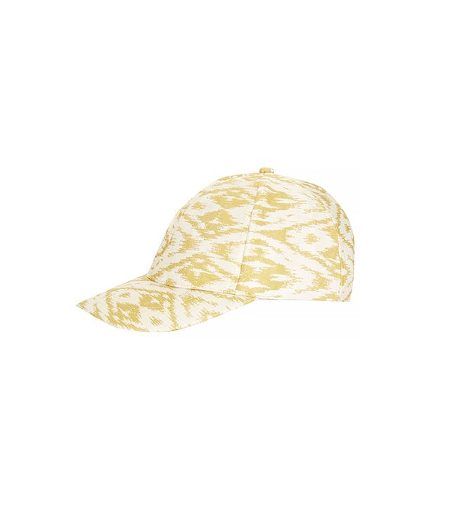 Topshop Jacquard Cap ($32) in Yellow 