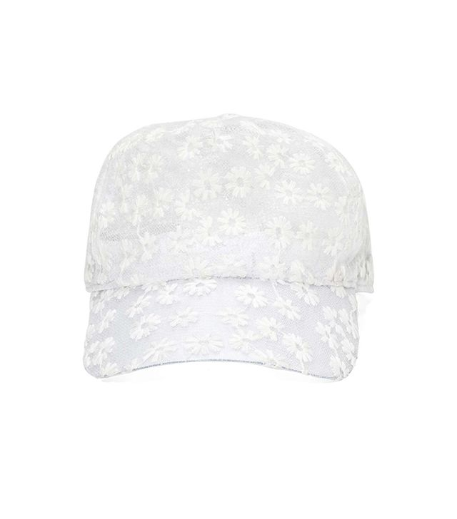Nasty Gal Daisy Crazy Cap ($28) in White