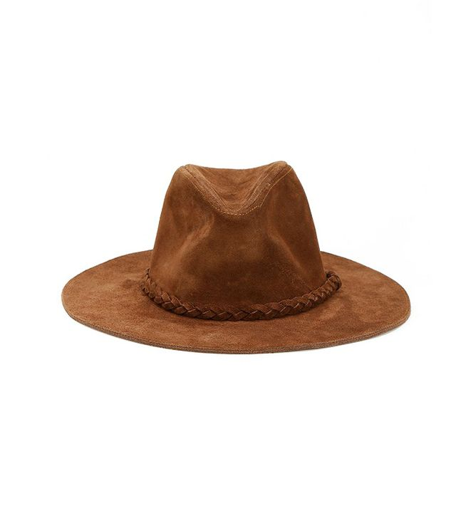 Urban Outfitters Suede Boho Panama Hat ($128) in Tan