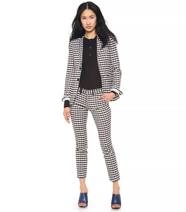 Each x Other Gingham Jacket ($828) and Gingham Pants ($432) in White/Black