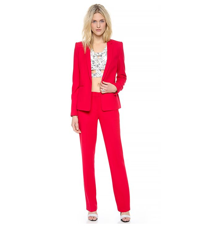 BCBGMAXAZRIA Kamryn Jacket ($248) and Cliff Pants ($158) in Rio Red