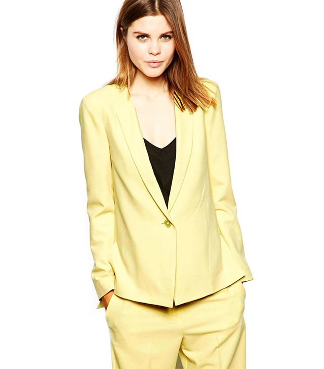 ASOS Crepe Blazer ($85) in Yellow 