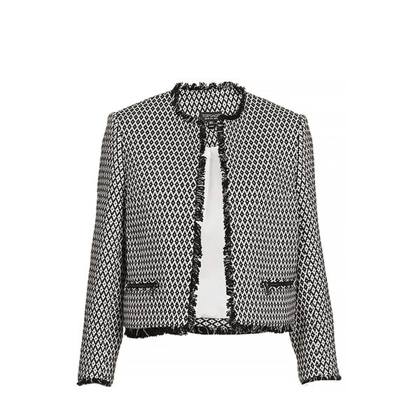 Topshop Crop Folk Tile Jacket