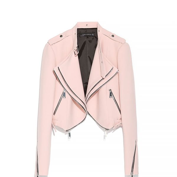 Zara Cropped Jacket With Zips