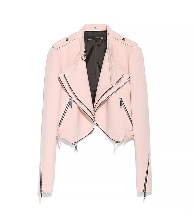 Now that you have closet stocked with swingy tops and dresses, you'll need an equally figure-flattering jacket. This cropped version is ideal, as it will add structure to your top, and the...