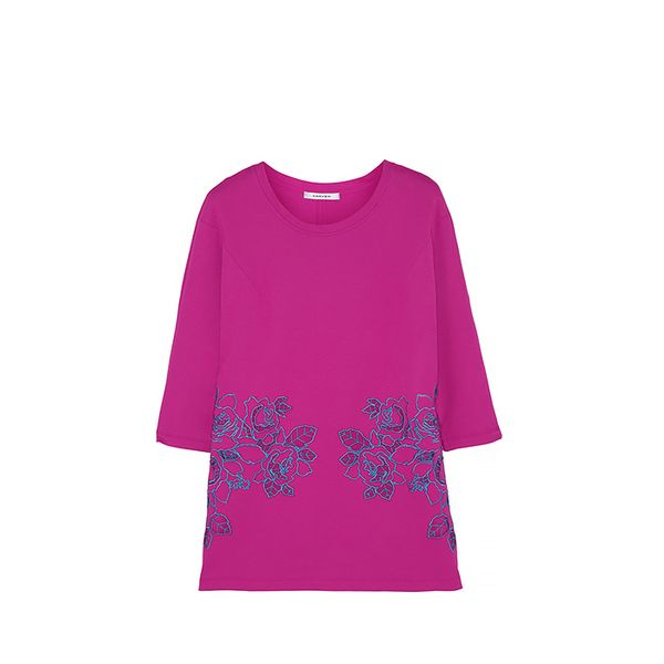 Carven Carven Embroidered Cutout Cotton-Blend Sweatshirt