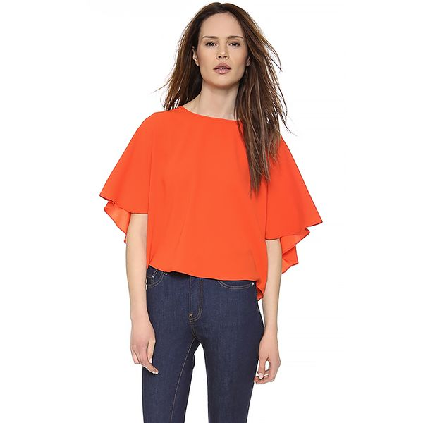 Tibi Tibi Cape Back Top