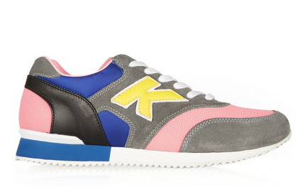 Karl Lagerfeld Leather, Suede, and Mesh Sneakers