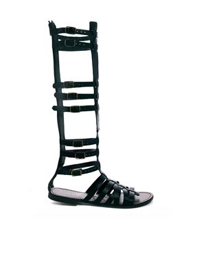 New Look Gemini High Leg Gladiator Flat Sandals