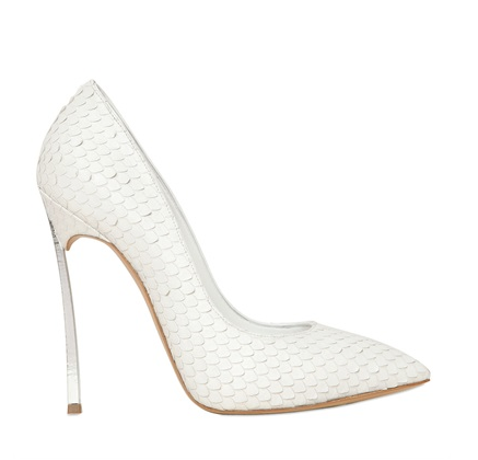 Casadei Calf Python Effect Blade Pumps