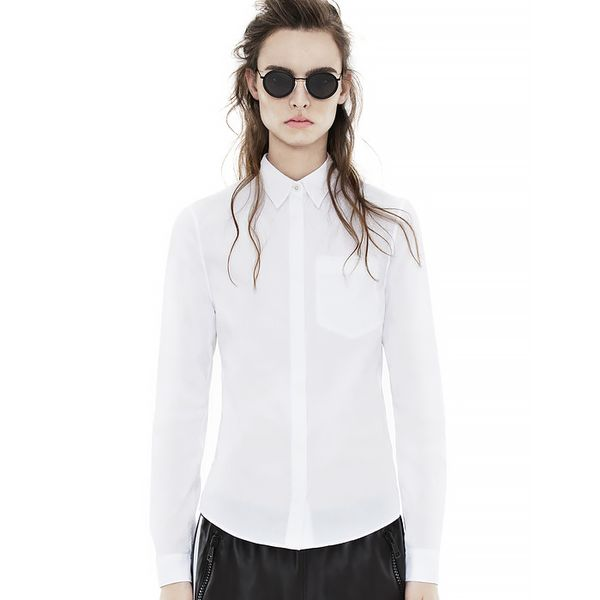 Acne Sloan Poplin Optic White Shirt