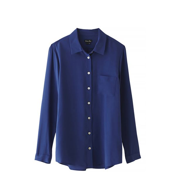 Steven Alan Silk Boyfriend Shirt