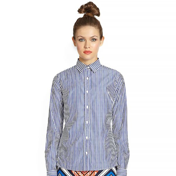 Stella Jean Cotton Button-Down Shirt